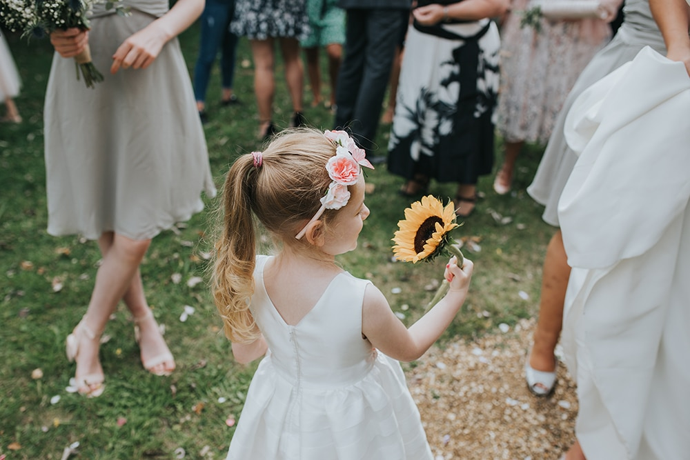 Northamptonshire Church Wedding Photography Flower Girl
