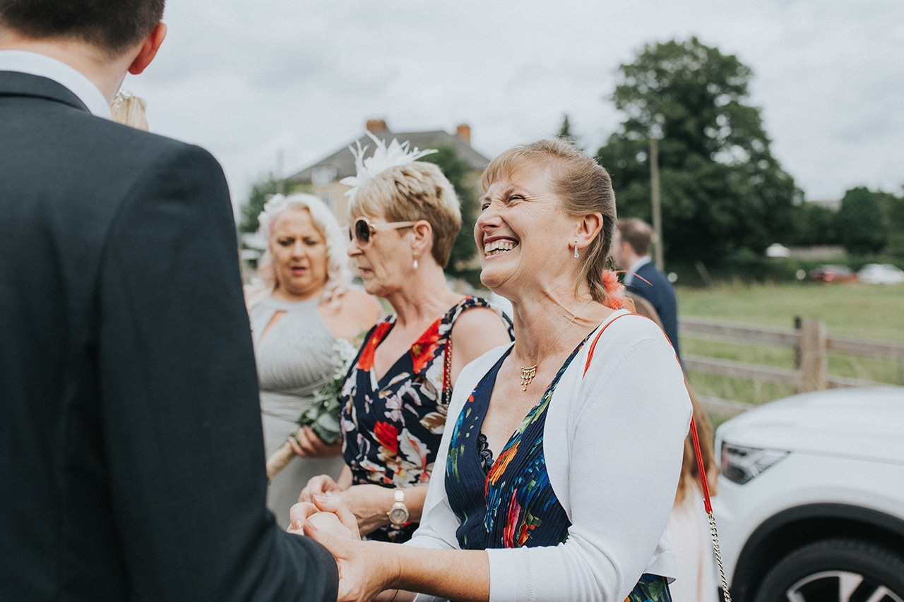 Natural Wedding Guest Photo at a Kettering Church Wedding