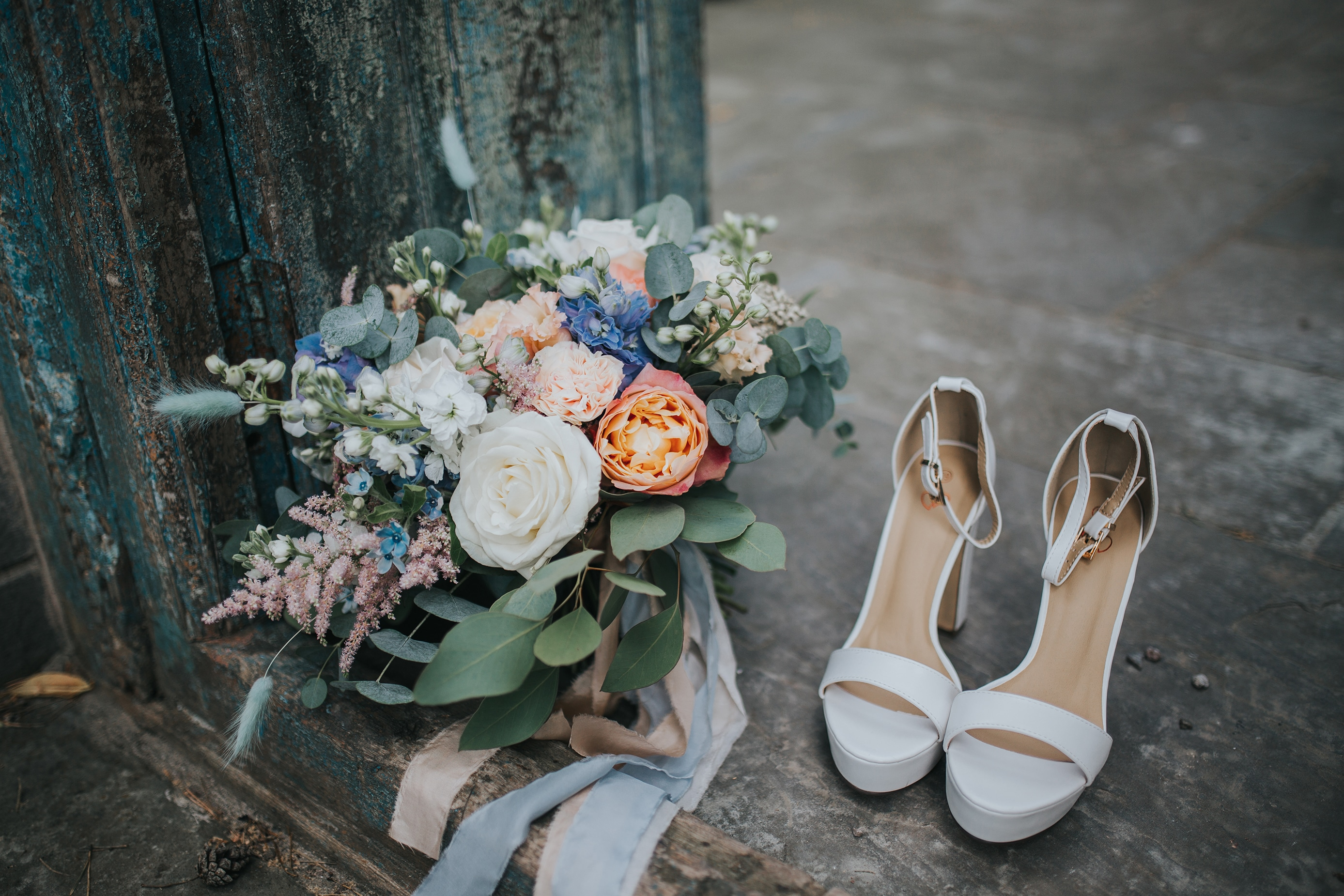 Wedding Bouquets by Issy and Bella Florals at Lemore Manor in Hereford
