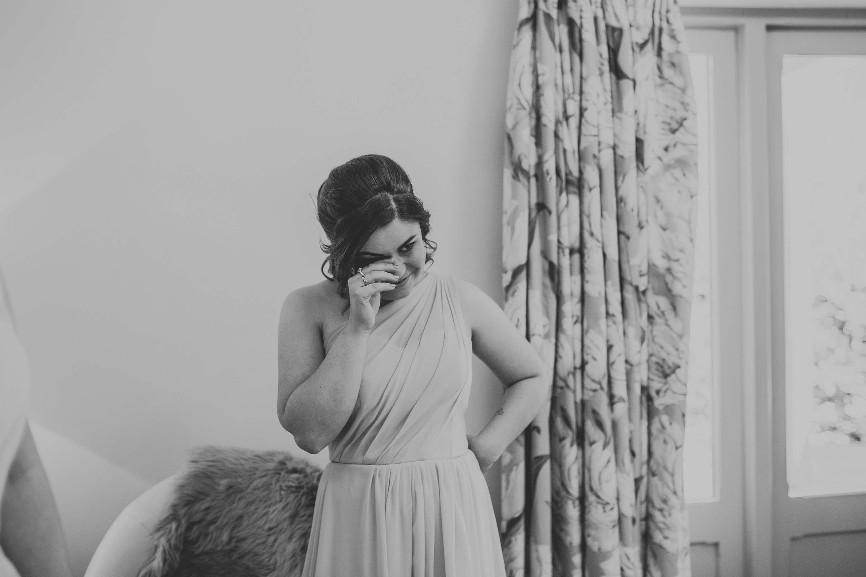 Bridal Prep in the Hen House at Lemore Manor in Hereford