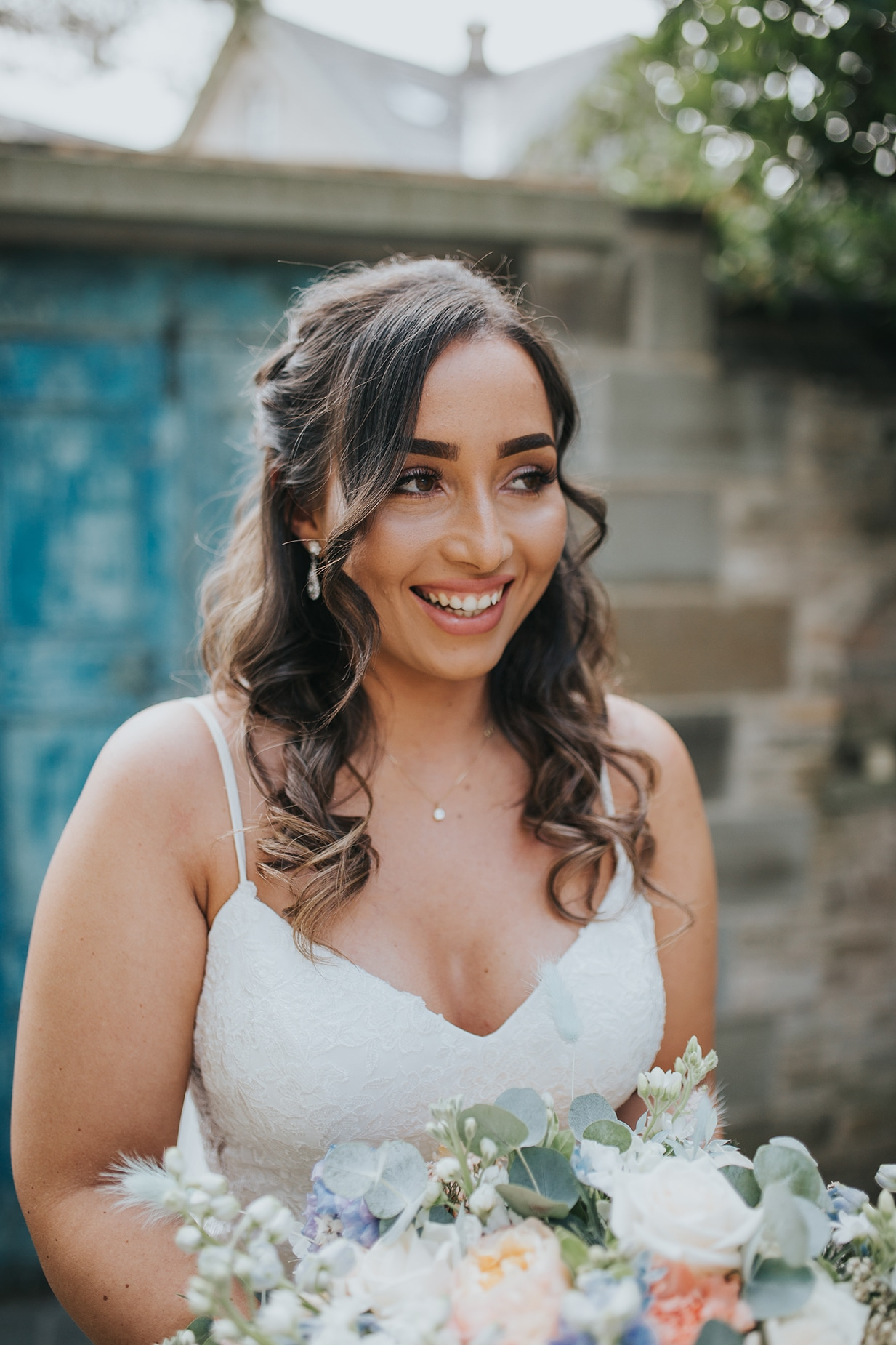 Bridal Portraits at a Lemore Manor Wedding in Hereford
