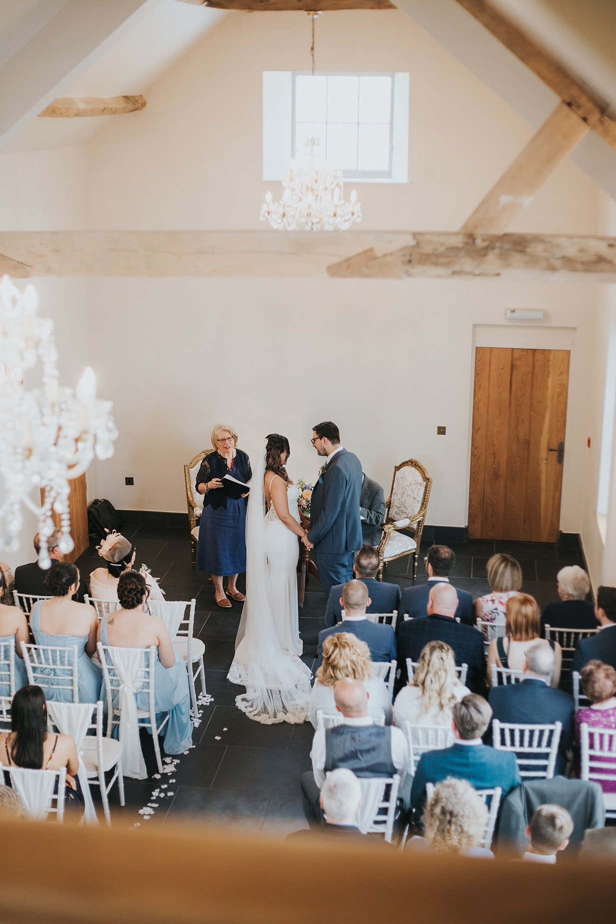 Wedding Ceremony Photography at Lemore Manor in Hereford