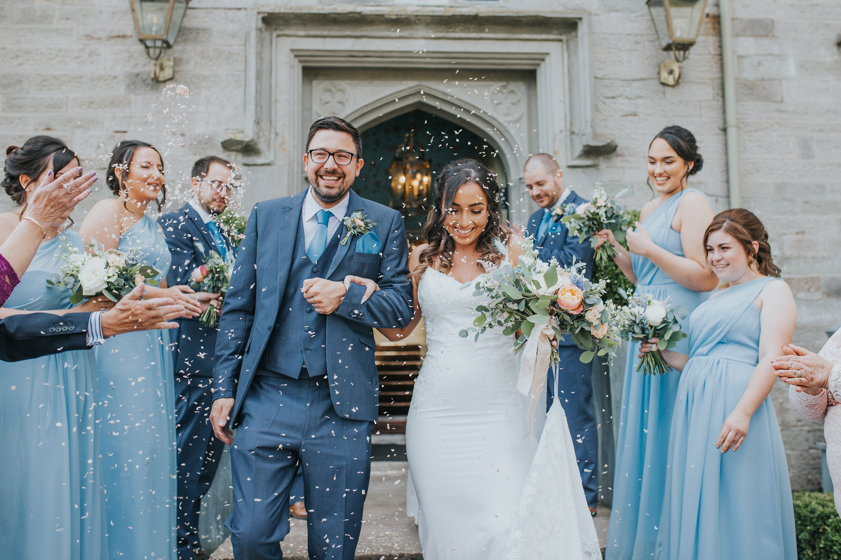 Confetti Wedding Photo taken at a Lemore Manor Wedding in Hereford