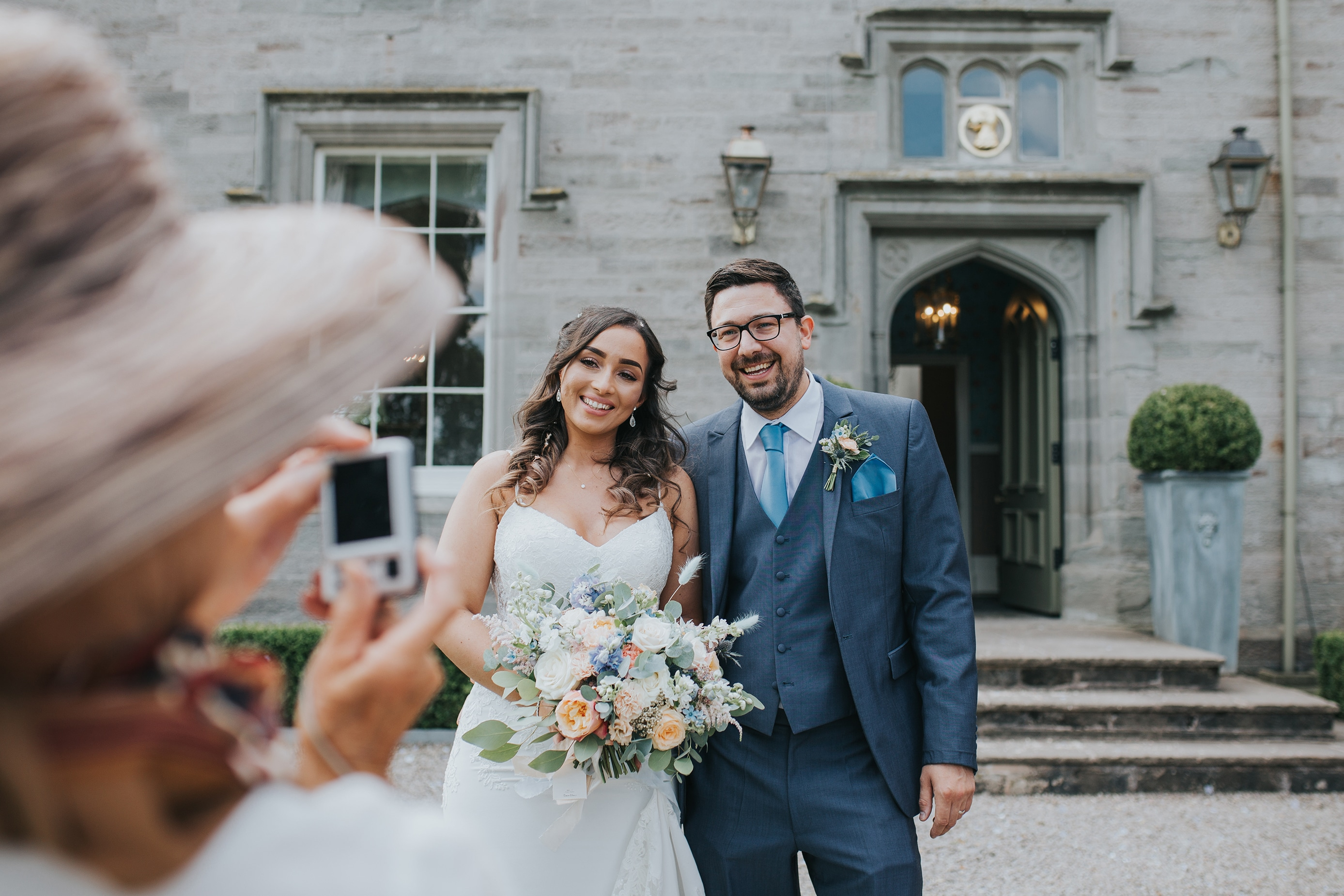 Candid Guest Photo at a Lemore Manor Wedding in Hereford