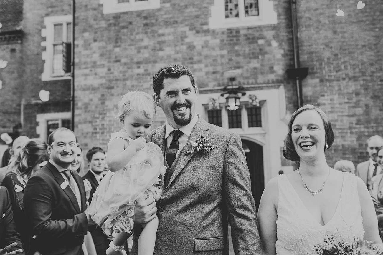 Documentary Style Wedding Photo of Guests at Pendrell Hall Staffordshire