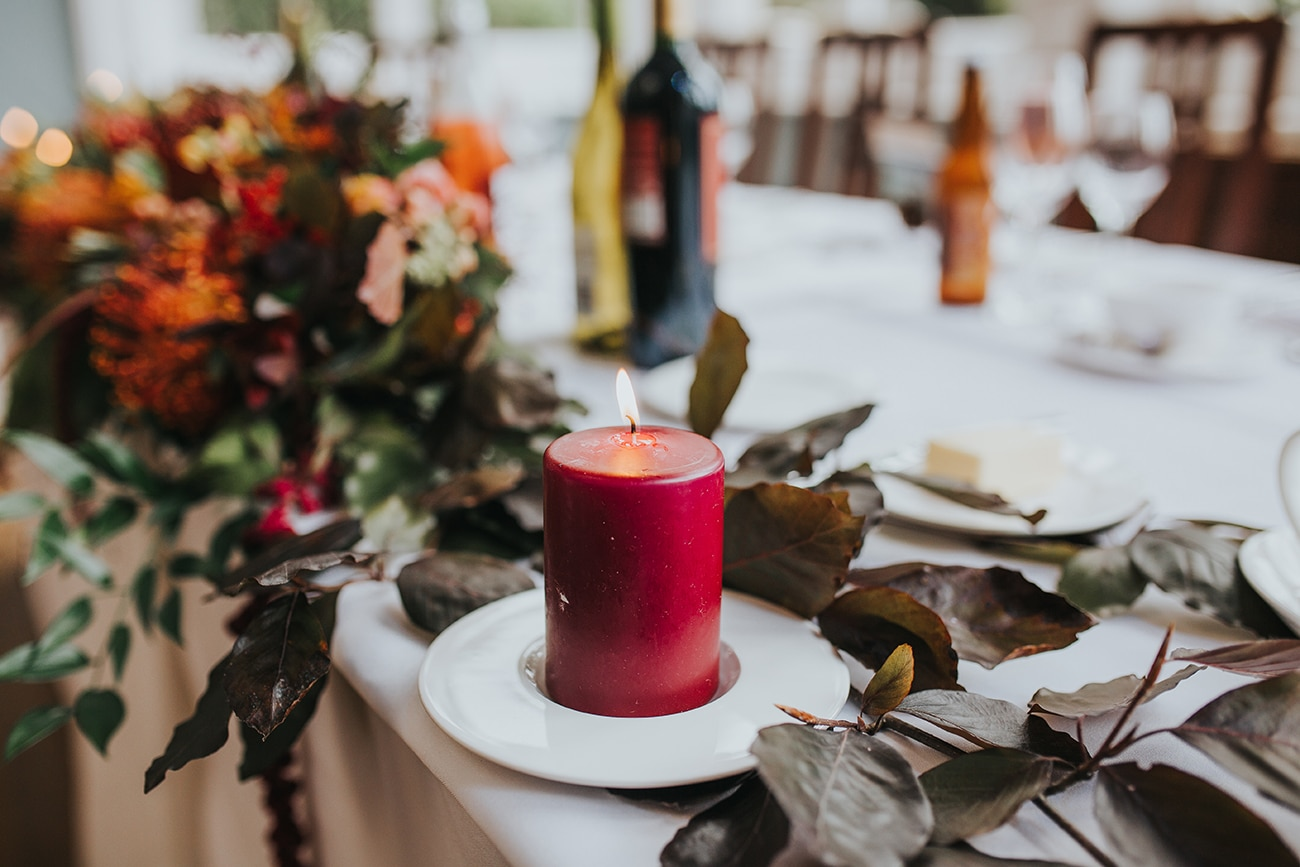 Autumn Wedding Theme Inspiration Decor Ideas at Pendrell Hall West Midlands