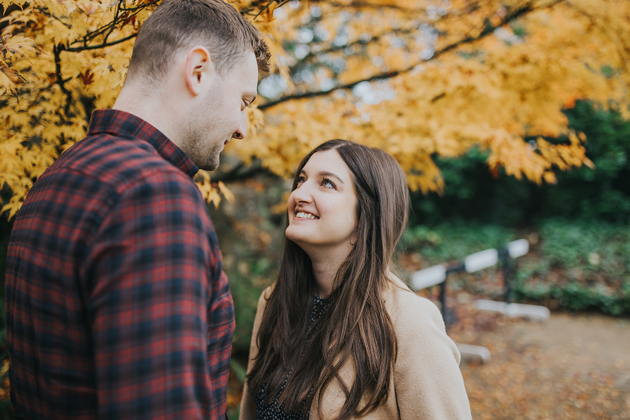 autumn engaged engagement shoot