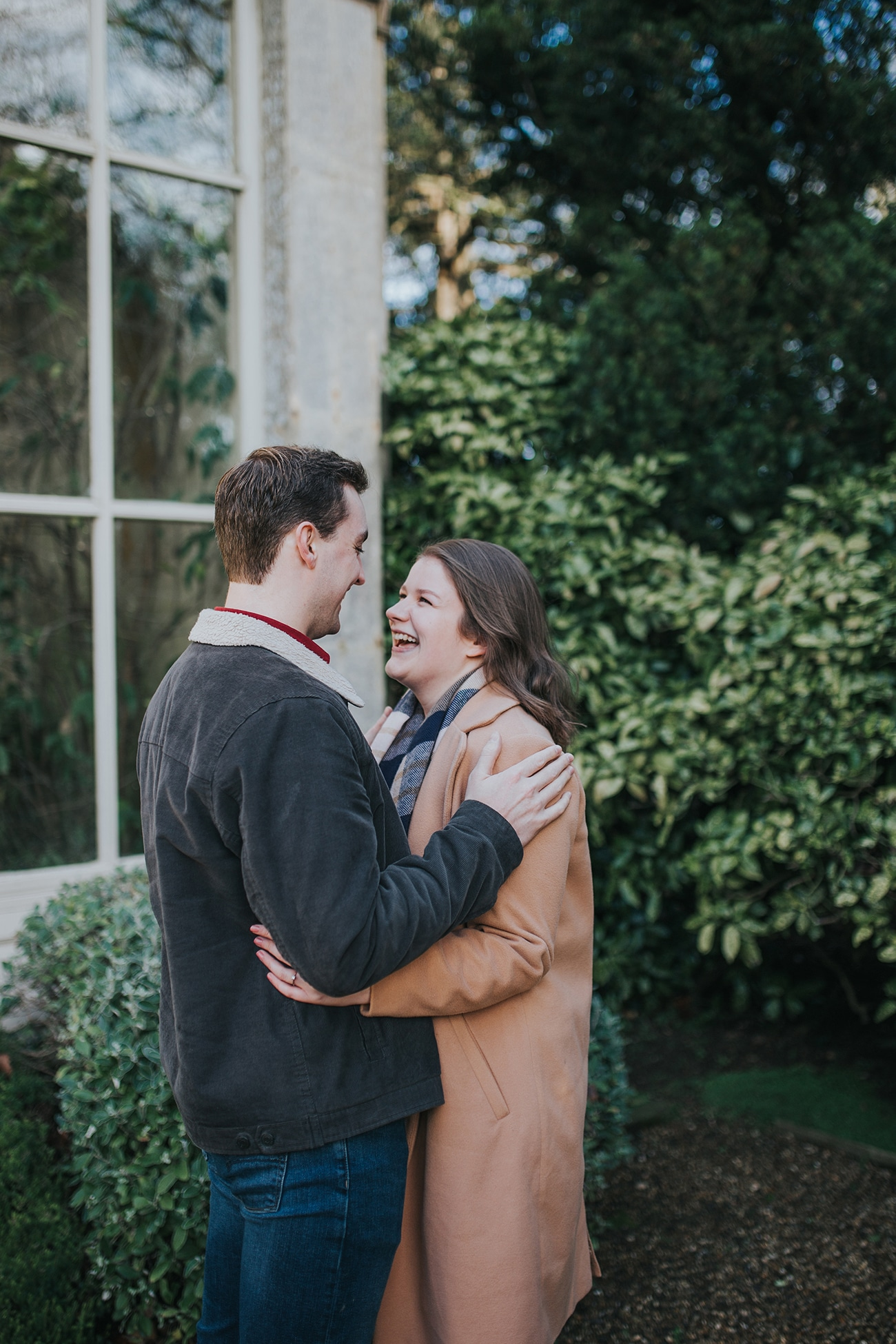 engagement session at Castle Ashby Gardens Orangery Northamptonshire